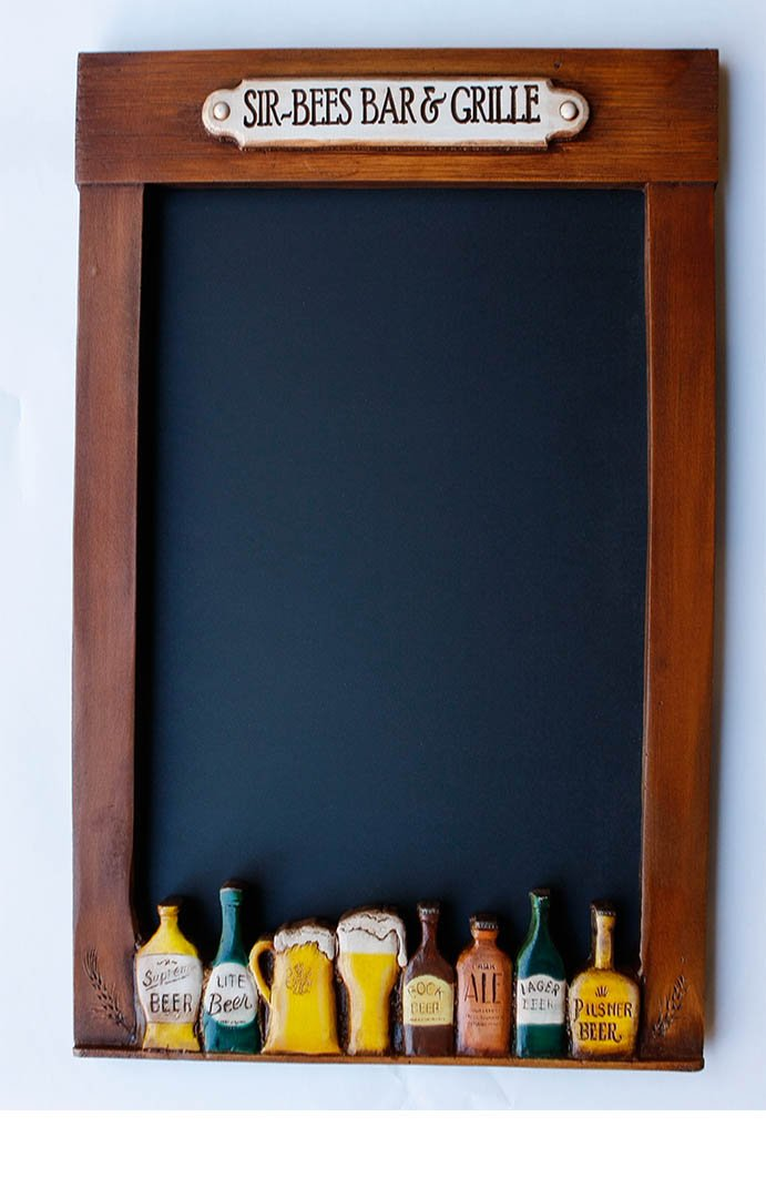 Amazon.com : Personalized Beer Carved Chalkboard : Office Products