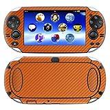 Decalrus – PlayStation Vita ORANGE Carbon Fiber skin skins decal for case cover wrap CFvitaOrange, Best Gadgets