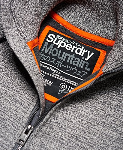 Superdry Herren Kapuzenpullover grau Mid Grey Twist Medium