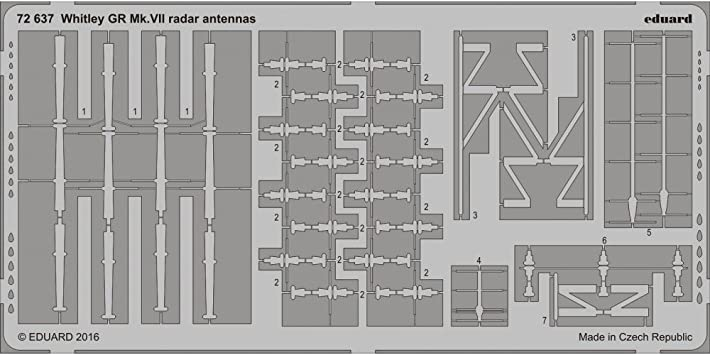 Edu72637 1:72 Eduard Pe - Whitley Gr Mk.vii Radar Antenas ...