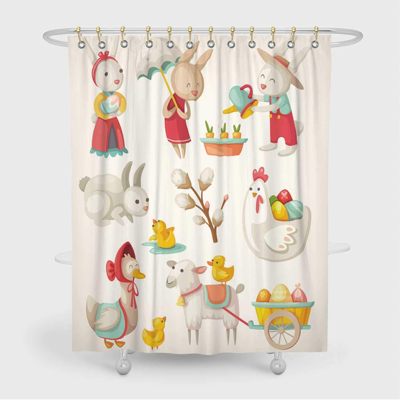 Amazon.com: ALUONI Easter Animals Bathroom Decor Set,8 with