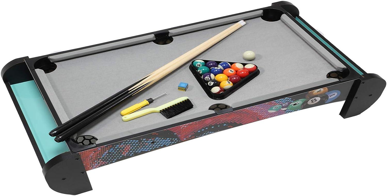 Pool Table-Kids Billiard Table Top, Compact Design Pool Tabletop Easy Setup for Indoor Billiard Table Games