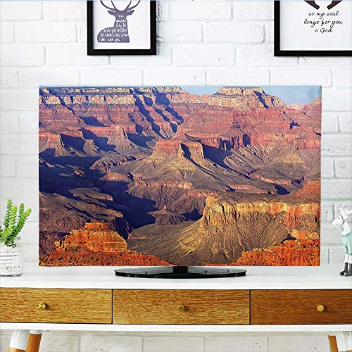 """Cord Cover for Wall Mounted tv Epic South West Canyon Before Sunrise Tribal Ethnic National Landmark Wilderness Brown Cover Mounted tv W32 x H51 INCH/TV 55"""""""