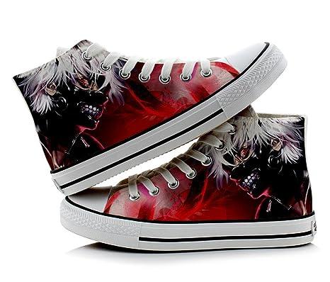 99df9765dadc5 Amazon.com: Telacos Tokyo Ghoul Kaneki Ken Cosplay Shoes Canvas ...