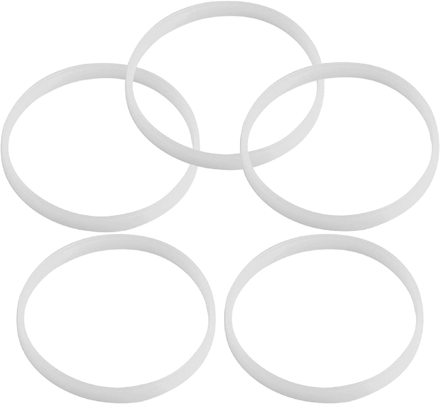 5 Pack Rubber Gaskets Replacement Seal White O-Ring for Nutri Ninja Blender Replacement Parts Ninjia Auto-iQ Pro Extractor CT680 BL456 BL480 BL681A BL682 BL640 (3.94 inch Gaskets)