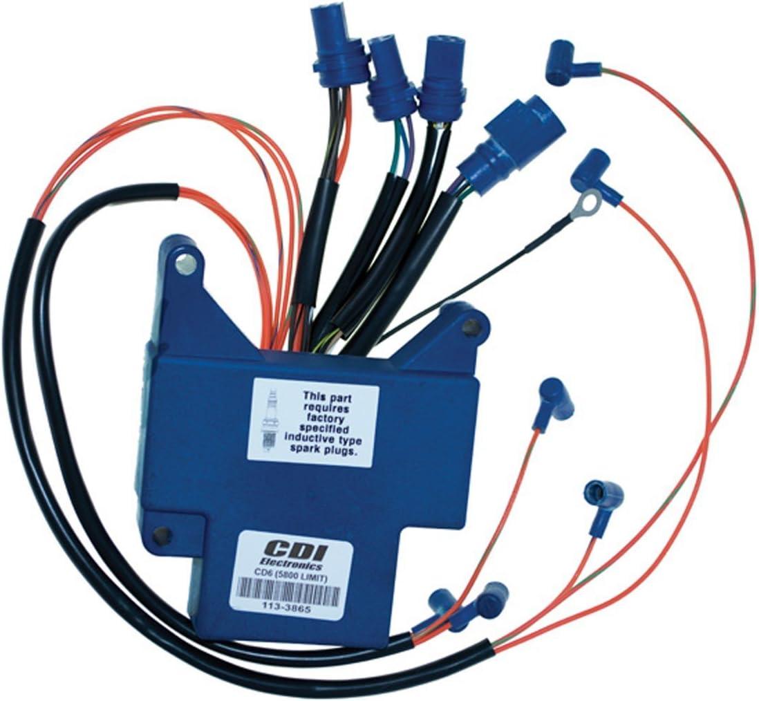Johnson Evinrude Power Pack CD 6 AL 150 Hp 1989-1990 Model SL//ST 6 Cyl WSM 113-3865 CD6AL 5800 L OEM# 18-5885 583865