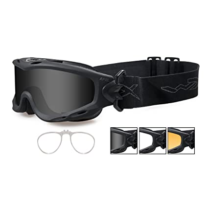 e7f5aa608b8 Image Unavailable. Image not available for. Color  Wiley X SPEAR Smoke Grey  Clear Light Rust Lenses with Matte Black Frame and