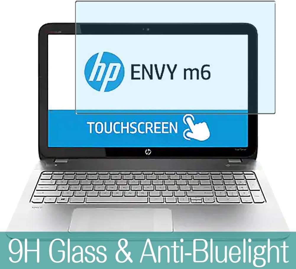 "Synvy Anti Blue Light Tempered Glass Screen Protector for HP Envy m6-n100 / n113dx 15.6"" Visible Area 9H Protective Screen Film Protectors"