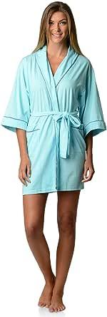 Casual Nights Women's Lounge Jersey Cotton Kimono Short Robe