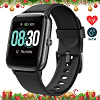 UMIDIGI Uwatch3 Fitness Tracker Smart Watch with Sleep Monitor All-Day Heart Rate 5ATM Waterproof (Onyx Black)