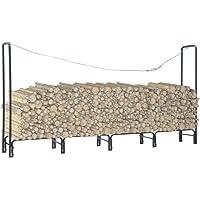 vidaXL Firewood Rack Anthracite 240x35x120 cm Steel