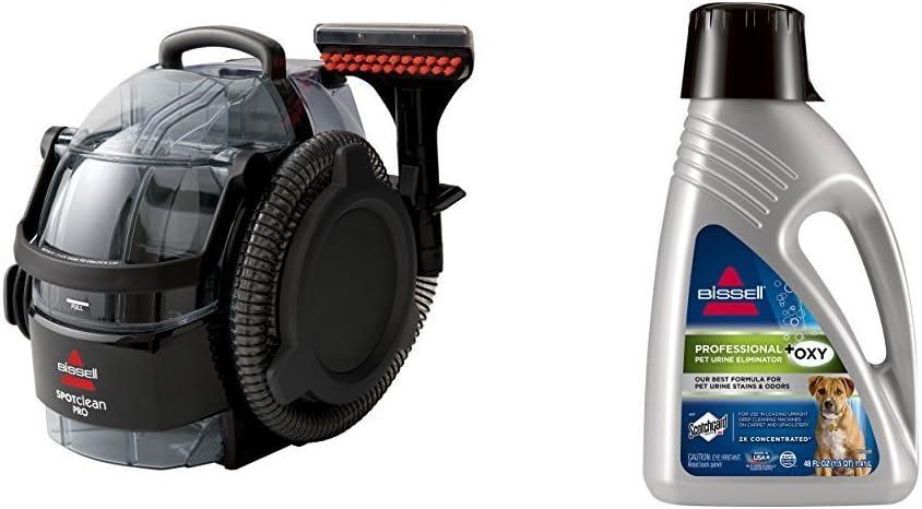 Bissell 3624 Spotclean Professional Portable Carpet Cleaner Corded And Bissell 2x Professional Pet Urine Eliminator Full Size Machine Formula 48