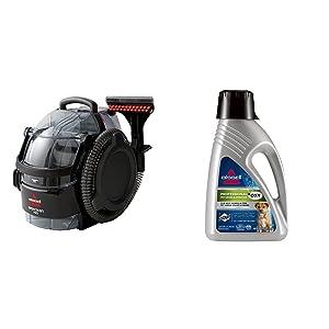 Bissell 3624 SpotClean Professional Portable Carpet Cleaner - Corded andBISSELL 2X Professional Pet Urine Eliminator Full Size Machine Formula, 48 ounces, 67A5 Bundle