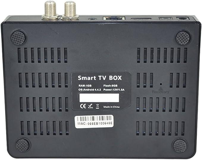MU CCcam Newcamd DVB-S2 Android 4.4.2 TV Caja VIGICA C100S Android TV de Alta definición Receptor de satélite Quad Core HD Smart TV Box XBMC Dobly: Amazon.es: Electrónica