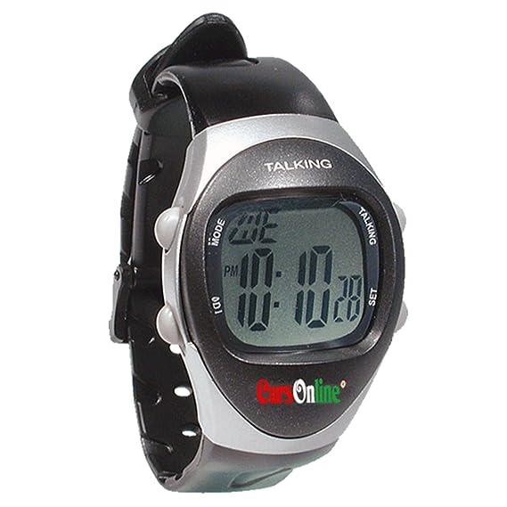 CursOnline® Elegante Reloj Parlante Talking Watch de lingua italiana para mayores, Deficiencia Auditiva o