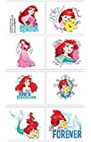 Disney Little Mermaid Tattoos Party Bag Fillers - 1 Sheet with 8 Squares