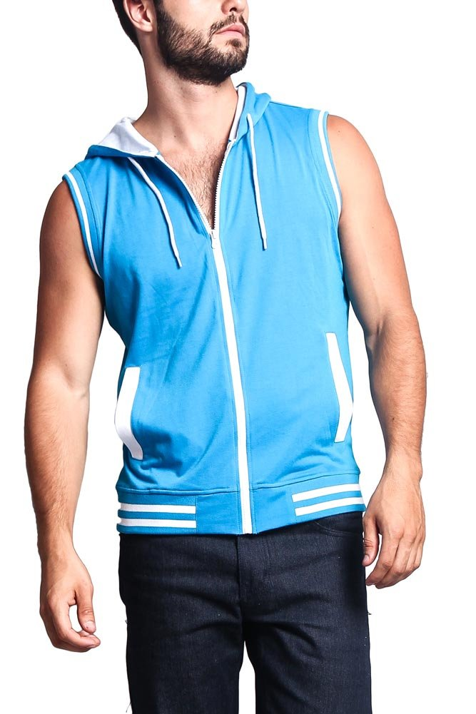 Victorious Lightweight Sleeveless Contrast Hoodie
