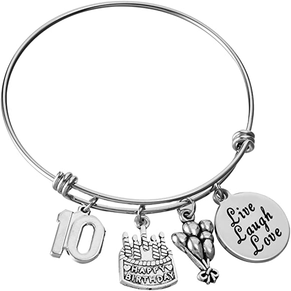 Birthday Gifts For Her Stainless Steel Expandable Bangle 13th Sweet 16 18th 21st 30th 40th 50th 60th