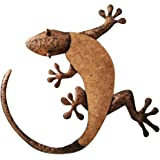 "Comfy Hour 16"" Brown Copper Metal Art Gecko Wall Decor"
