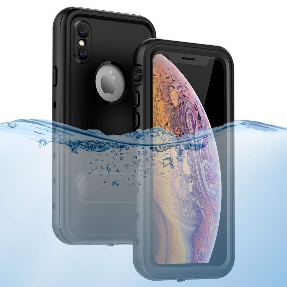 iPhone Xs/iPhone X Waterproof Case, ZERMU Colorful Kickstand Shockproof Snowproof IP68 Underwater Full Body Protection Built-in Screen Protector Underwater Waterproof Case for iPhone Xs/iPhone X 5.8''