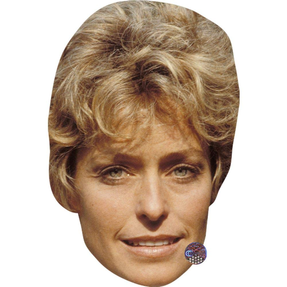 Young facce di cartone Maschere di persone famose Farrah Fawcett