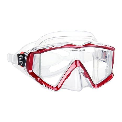 49ee5408890f Amazon.com   Aqua Scuba Wide View Diving Snorkel Freediving Mask ...
