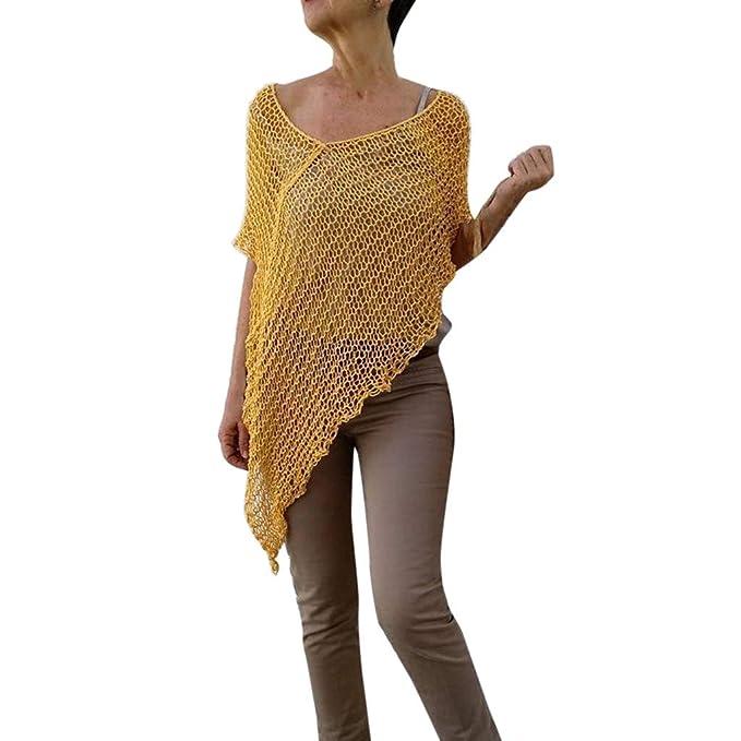 Qingsiy 2019 Blusa para la Playa Largo Bohemio Hippie Vestido Mujer Tunica Piscina Kaftan Kimono Vestidos Maxi Verano Ropa de Baño Camisolas y Pareos ...