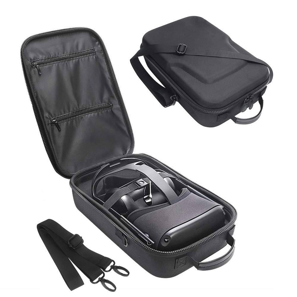 Simumu Travel Case for Oculus Quest 2 / Oculus Quest VR Headset and Controllers Accessories Carrying Bag(Black)