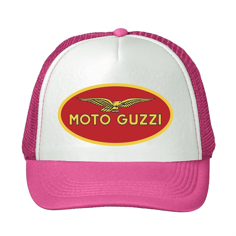 LEU Unisex Moto Guzzi Logo Cover Adjustable Sun Caps