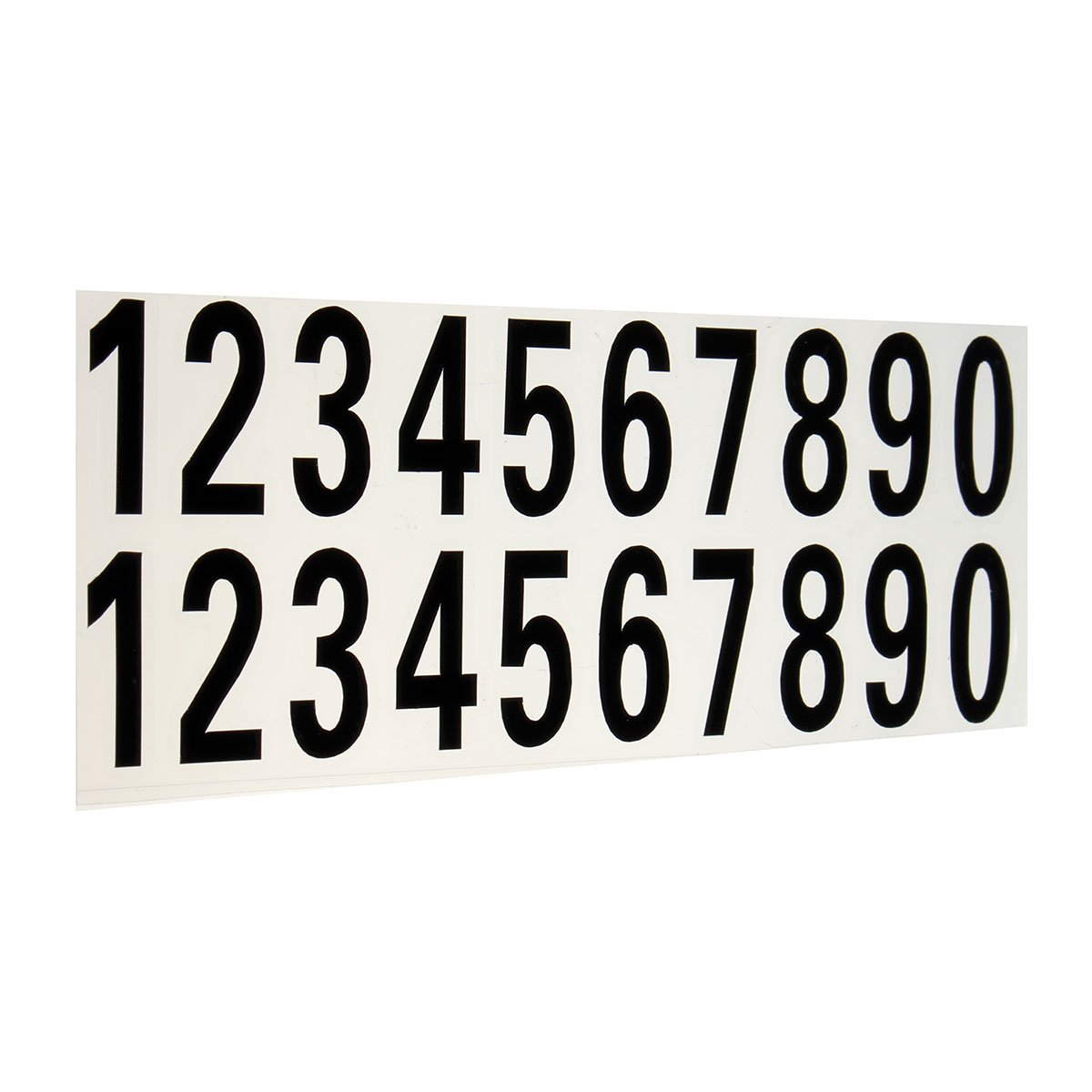Exterior Accessories - Ctom Mailbox Numbers Reflective - Number Reflective Sticker Car Vinyl Decal Street Address Mailbox Number Stickers White Black - Mailbox Letters And Numbers Reflective - 1PCs