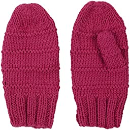2H Hand Knits Baby Girls\' Knit Mittens - Dark Hot Pink - Small