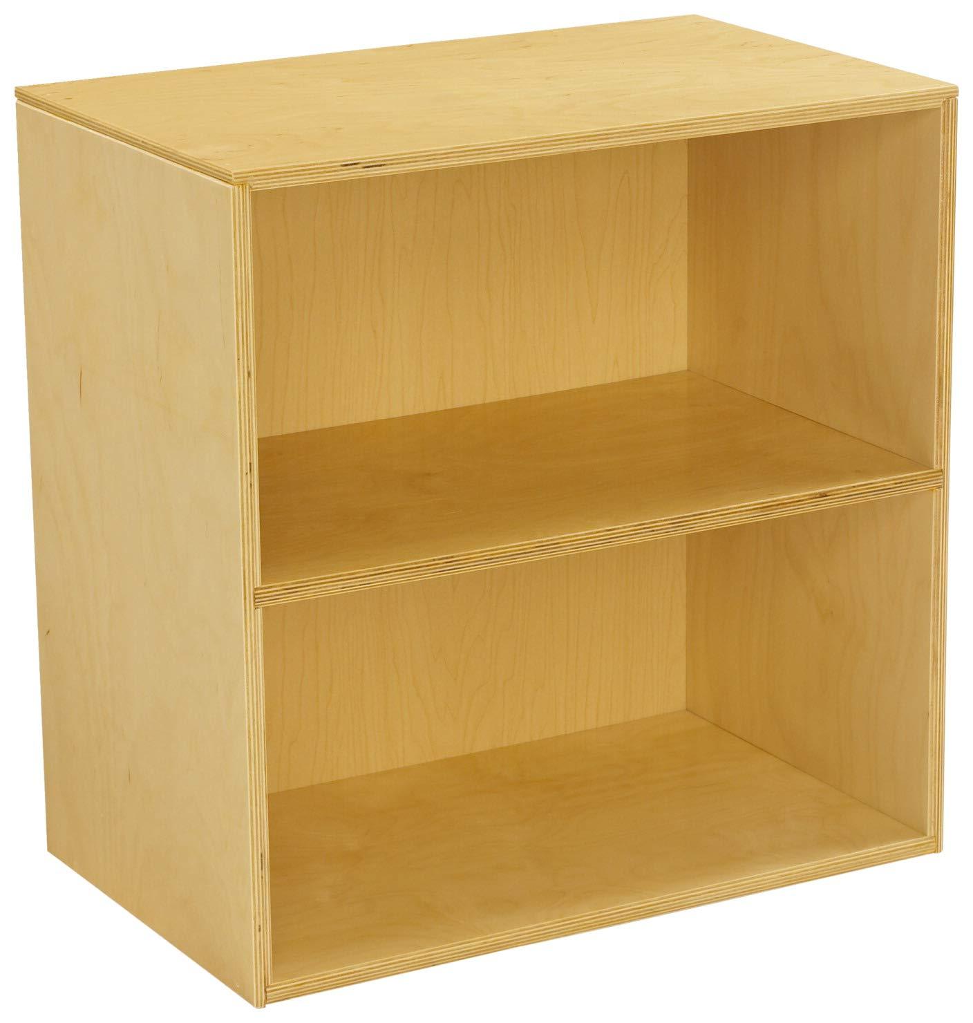Childcraft Narrow Storage Unit, 2 Shelves, 23-3/4 x 14-3/4 x 24 Inches