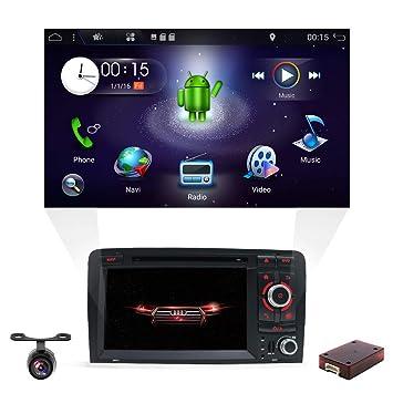 Android 8.1 Estereo de Coche Doble DIN para Audi A3 2003 – 2011, YUNTX Autoradio