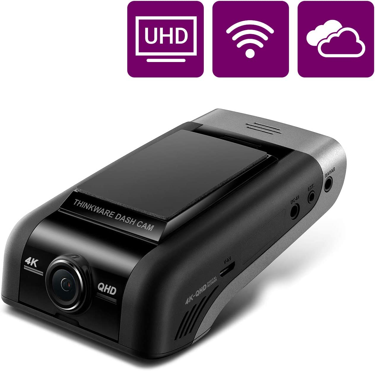 THINKWARE U1000 4k Dash Cam UHD 3840X2160, 150° Wide Angle Dashboard Camera Recorder with G-Sensor, Car Camera w/Sony Sensor, Parking Mode, WiFi GPS, Night Vision, Loop Recording, Cloud Enabled