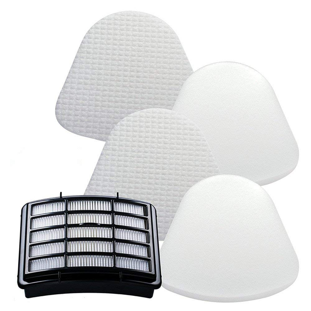 HEPA Filter + 2 Foam Flet Filter Kit for Shark Navigator Life Away XFF350 XHF350 NV350 NV351 NV352 NV355 NV356 NV356E NV357 NV360 NV370 NVLFT199 UV440 NV350A NV350E