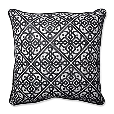 Pillow Perfect Lace it Up Ebony Throw Pillow - Material: Cotton Style: Geometric Season or Holiday: All Seasons - living-room-soft-furnishings, living-room, decorative-pillows - 61NQwjE7CvL. SS400  -