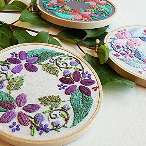 Evo de bordado Agujas, artes y manualidades de costura para bordado juego de pluma craft herramienta para bordado threaders DIY cortinas fundas de almohada ...