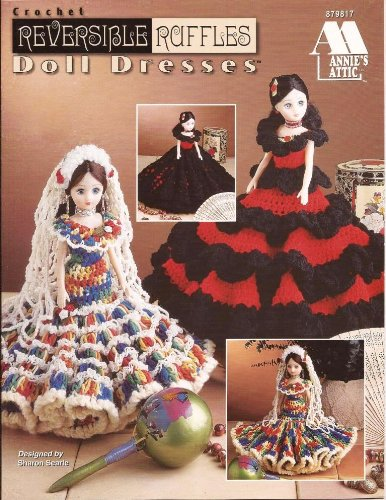 Crochet Reversible Ruffles Doll Dresses (Annie's Attic) (Annie's Attic) Andy Ashley Annie's Attic