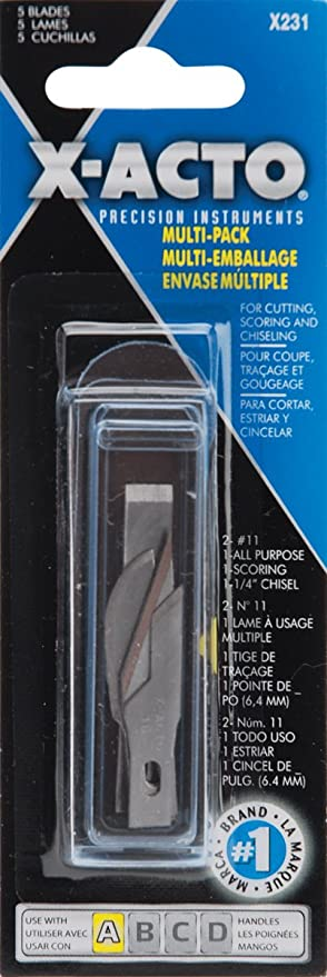 X-Acto Precision Blade Assortment Silver