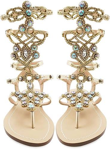 Hinyyrin Women S Rhinestone Sandals Gold Silver Gladiator Sandals Summer Flat Dress Sandals Beach Wedding Banquet Amazon Co Uk Shoes Bags,Casual Designer Wedding Dresses