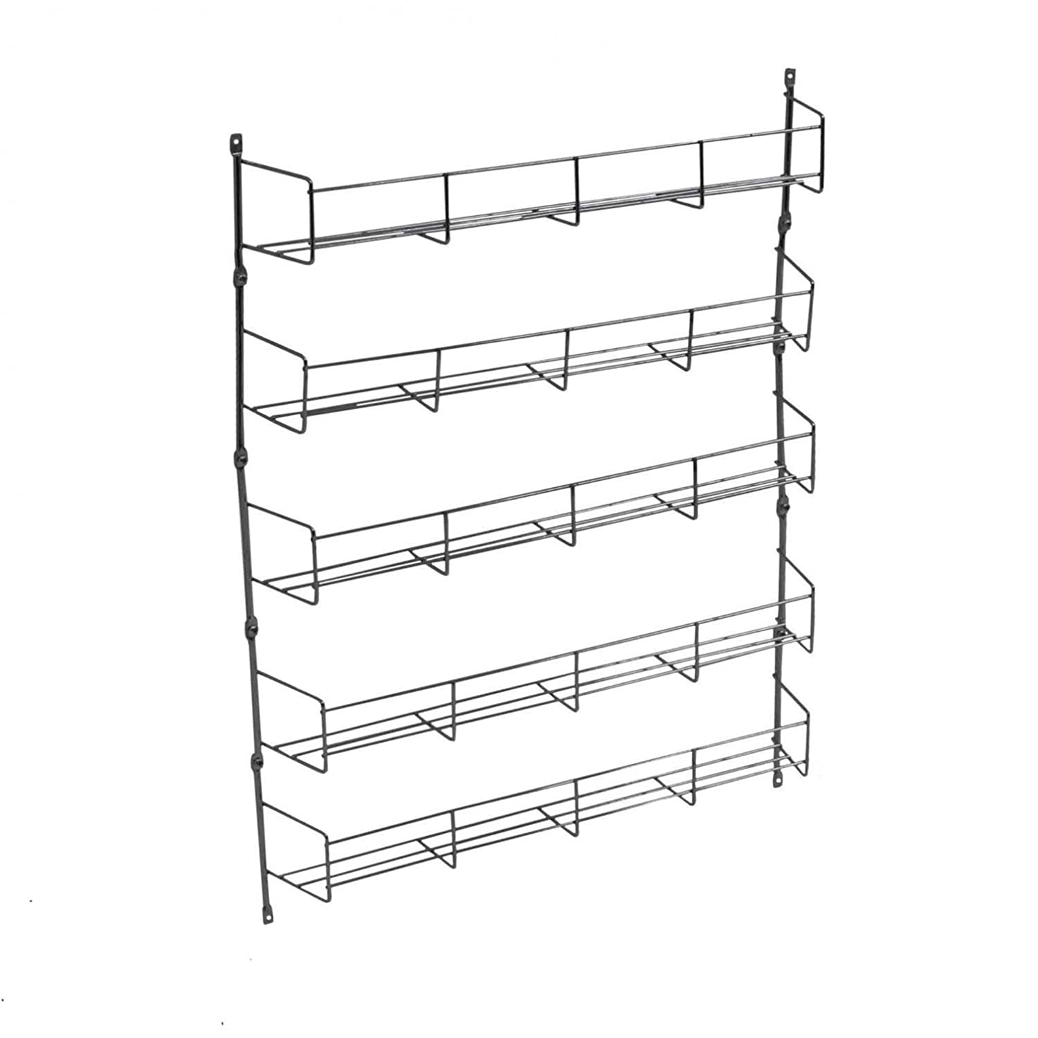 Oypla 5 Tier 40 Jar Spice Herb Rack Kitchen Storage Wall Mountable 3943A2P