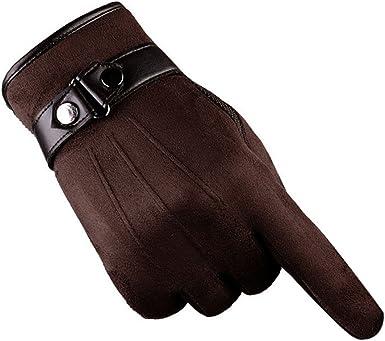 en Hiver R/ésister au Froid Chauds Noir la Moto pour la Conduite Gants pour Hommes en Cuir avec /Écrans Tactiles Gants pour Hommes dHiver les Textos