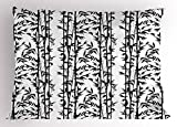 Lunarable Bamboo Pillow Sham, Monochrome Natural Inspirations with Bamboo Tree Growth Exotic Garden Zen Spa Art, Decorative Standard Queen Size Printed Pillowcase, 30 X 20 inches, Black White