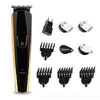 Recortador de barba 5 en 1, Cortapelos Barberos con 14 Accesorios, hay 3mm/6mm/9mm/12mm Peine de posicionamiento, Punda Set de afeitado multifunción, 3 pcs de Corte de pelo y 1 de Nariz y 1 de Barba