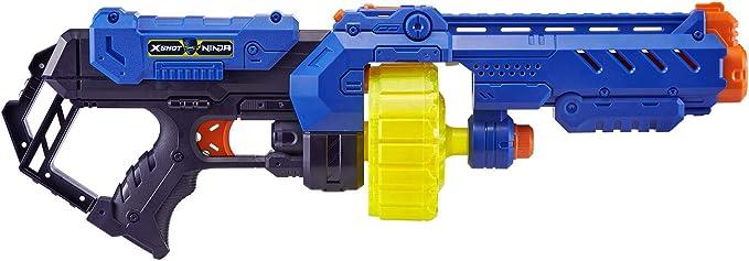 Zuru- X-Shot Ninja Turbo Strike Blaster con 48 dardos, bandana y marca para perros, Color carbón (36319) , color/modelo surtido: Amazon.es: Juguetes y juegos