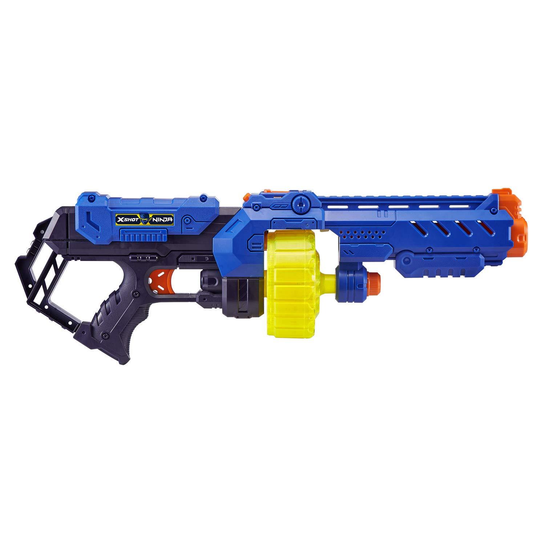 Zuru 36319 X-Shot Ninja Turbo Strike Blaster - Pistola con 48 Dardos, Bandana y Placa para Perros, Multicolor