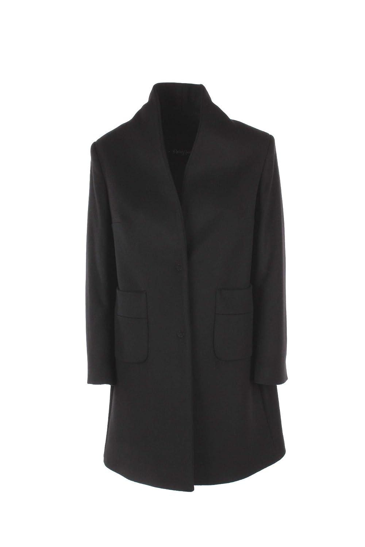 PARIS LONDON Cappotto Donna 46 Nero Zoe Panno Autunno Inverno 2018/19