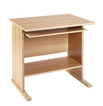 PC-Tisch Schreibtisch Buche 80 cm breit Computertisch Arbeitstisch ...
