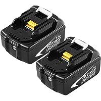 2 Pack BL1860B 5500mAh Reemplazo para Batería Makita