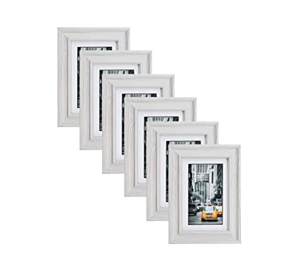 Amazon.com - Lambert Frame Marble Gray Wood Picture Frame 4X6 (6pc ...